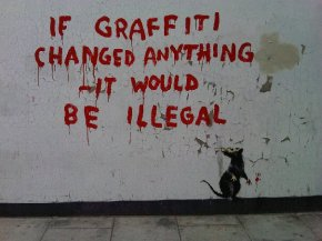 New Banksy artwork by my workplace in Fitzrovia